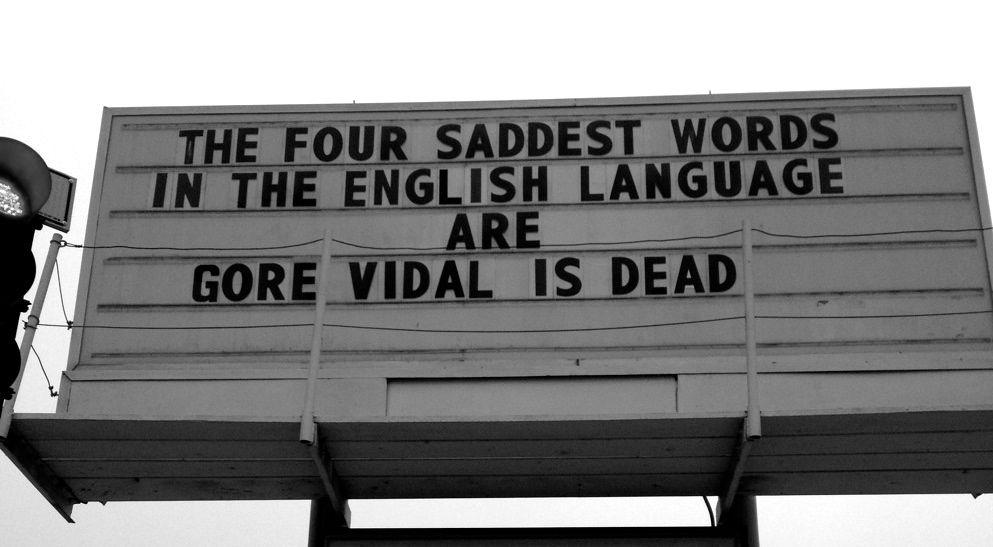 Gore Vidal Dead