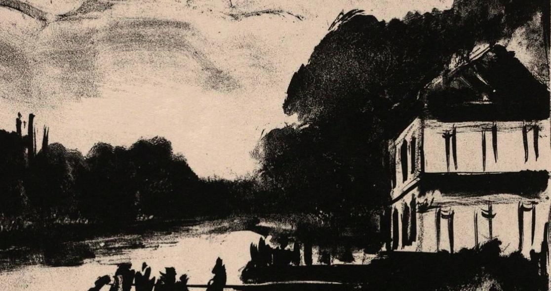 "Maurice de Vlaminck, ""River Scene"""