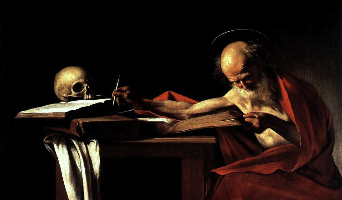 Saint Jerome in His Study, Caravaggio (1605-1606)