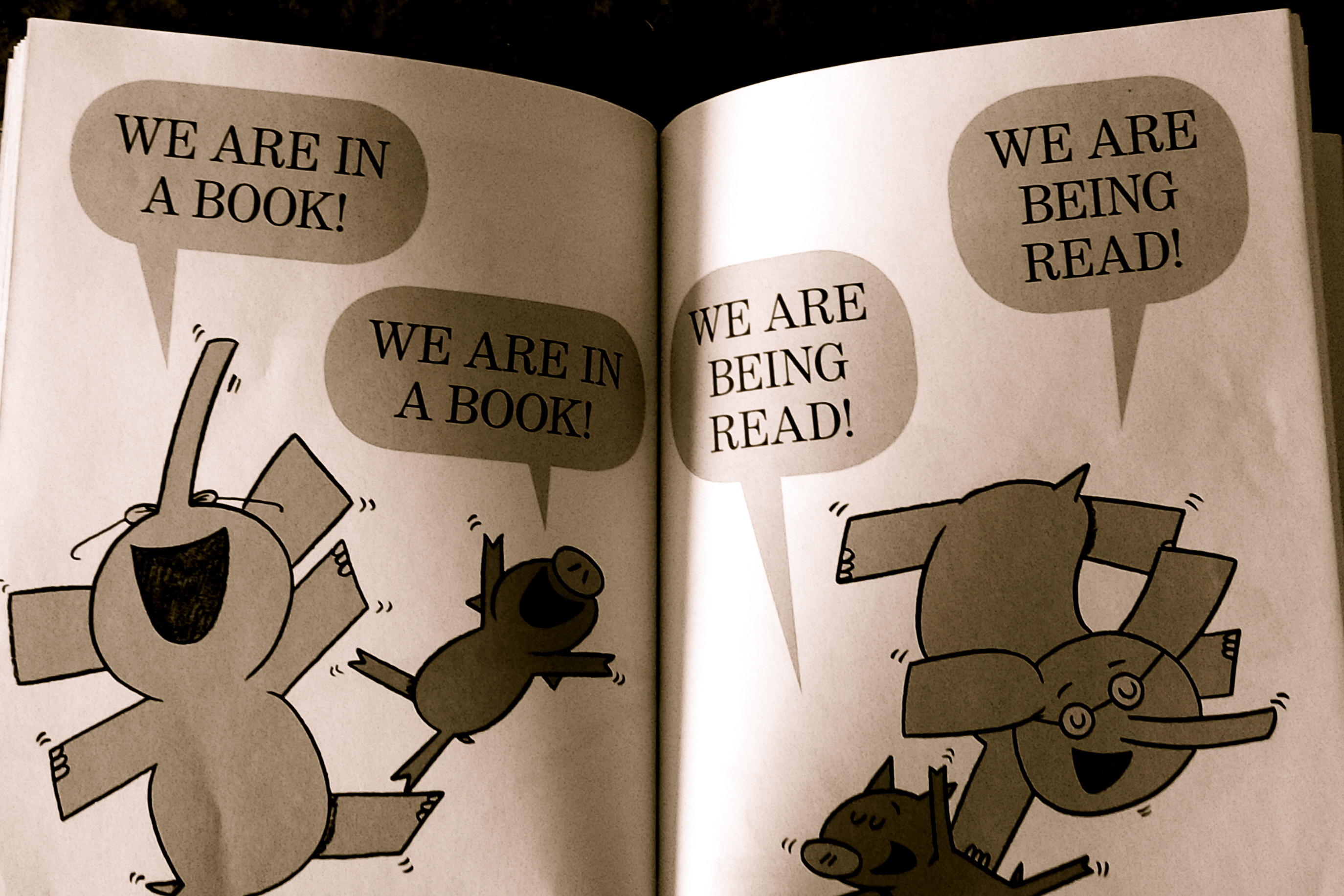 "From ""We Are in a Book!"" by Mo Willems"