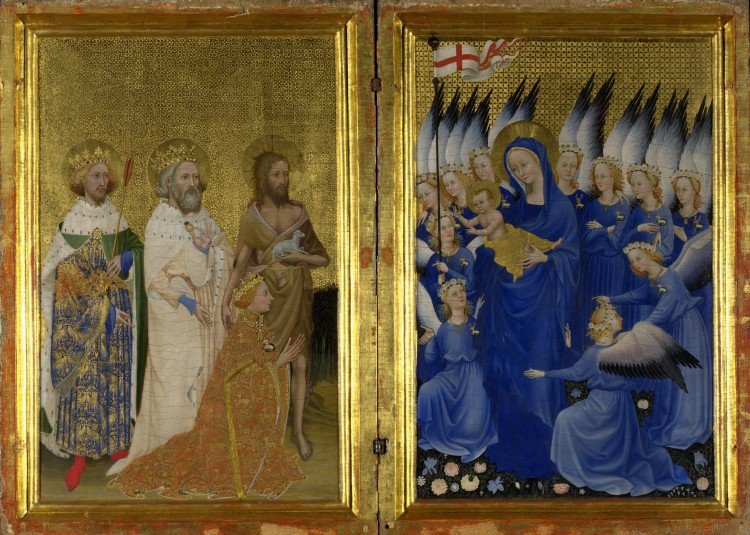 Wilton Diptych (c. 1395–9), depicting Richard II. National Gallery, London.